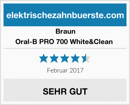 Braun Oral-B PRO 700 White&Clean  Test