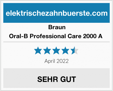 Braun Oral-B Professional Care 2000 A  Test