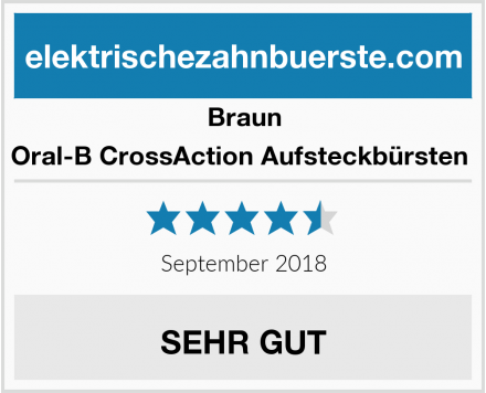 Braun Oral-B CrossAction Aufsteckbürsten  Test