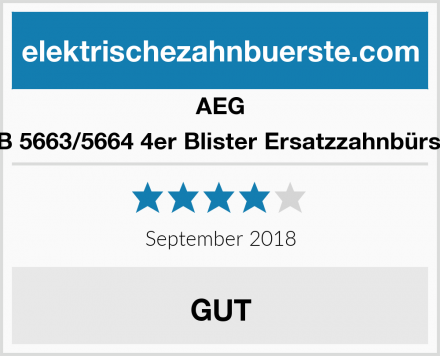 AEG EZB 5663/5664 4er Blister Ersatzzahnbürsten Test