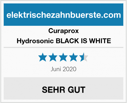 Curaprox Hydrosonic BLACK IS WHITE Test