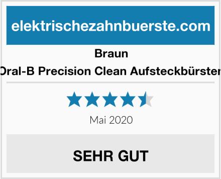 Braun Oral-B Precision Clean Aufsteckbürsten Test