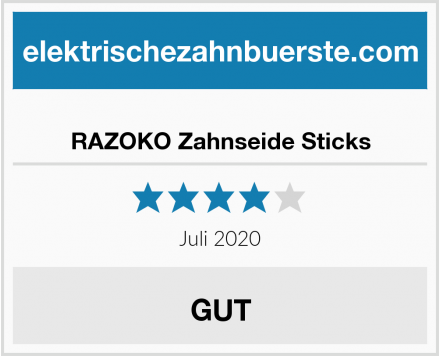 RAZOKO Zahnseide Sticks Test