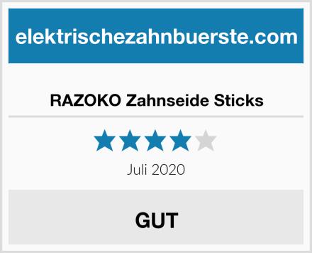 RAZOKO Zahnseide Sticks Test