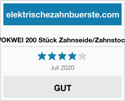 KWOKWEI 200 Stück Zahnseide/Zahnstocher Test