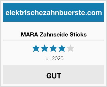 MARA Zahnseide Sticks Test