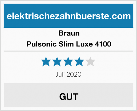 Braun Pulsonic Slim Luxe 4100 Test