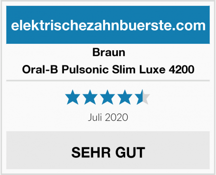 Braun Oral-B Pulsonic Slim Luxe 4200 Test