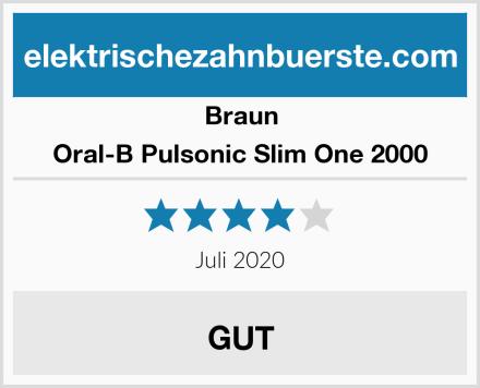Braun Oral-B Pulsonic Slim One 2000 Test