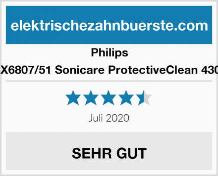 Philips HX6807/51 Sonicare ProtectiveClean 4300 Test