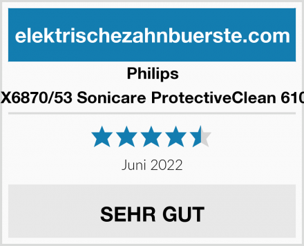 Philips HX6870/53 Sonicare ProtectiveClean 6100 Test