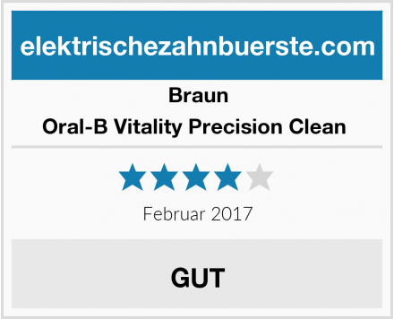 Braun Oral-B Vitality Precision Clean  Test