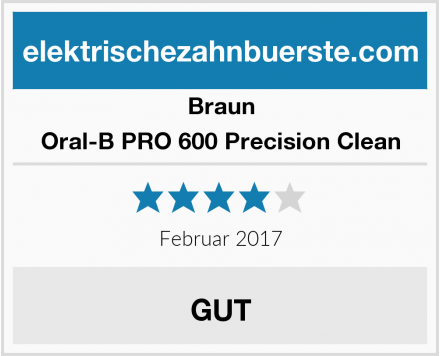 Braun Oral-B PRO 600 Precision Clean Test