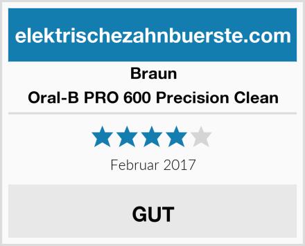Braun Oral-B PRO 600 Precision Clean Test