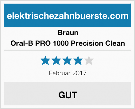 Braun Oral-B PRO 1000 Precision Clean Test