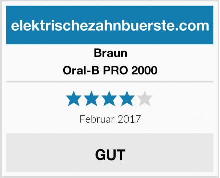 Braun Oral-B PRO 2000 Test