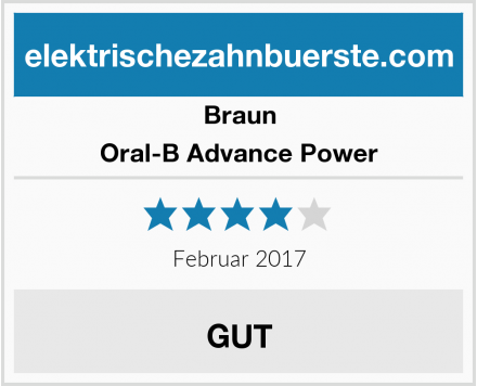 Braun Oral-B Advance Power Test