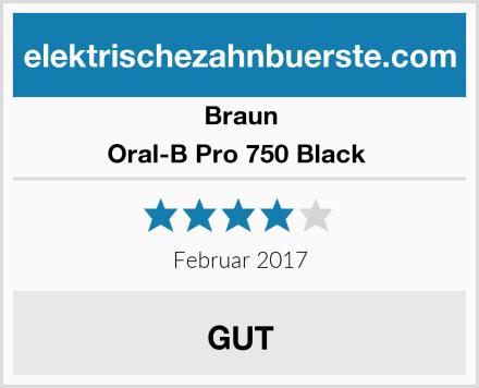 Braun Oral-B Pro 750 Black  Test