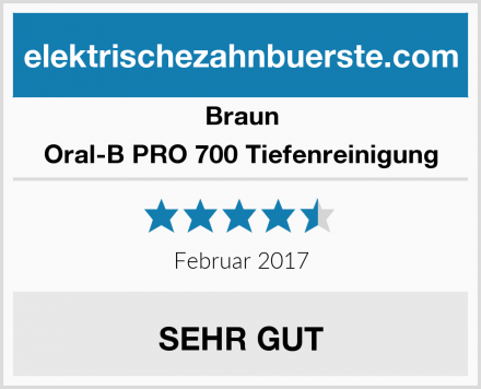 Braun Oral-B PRO 700 Tiefenreinigung Test