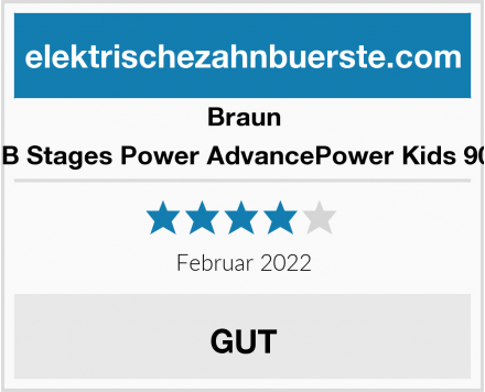 Braun Oral-B Stages Power AdvancePower Kids 900TX  Test
