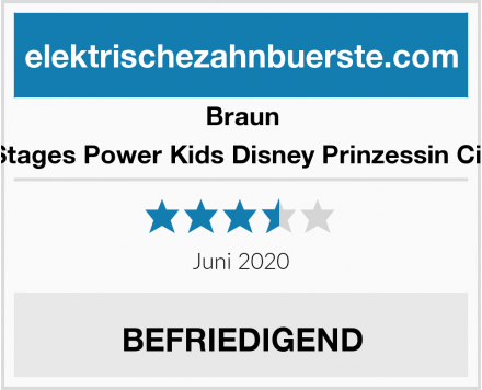 Braun Oral-B Stages Power Kids Disney Prinzessin Cinderella Test