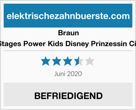Braun Oral-B Stages Power Kids Disney Prinzessin Cinderella Test